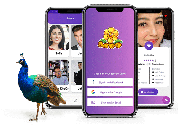 Build me up mobile app with peacock